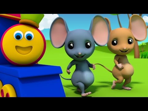 Bob The Train | Three Blind Mice | Nursery Rhymes | 3D rhymes Children | Rhymes Bob Cartoons Kids Tv