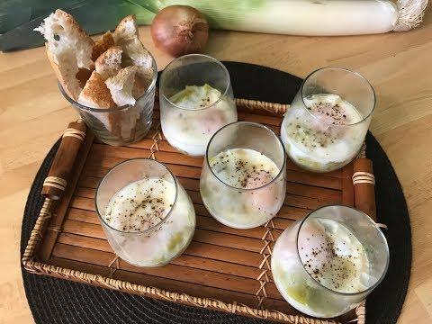 recette-oeufs-en-cocotte-sur-fondu-de-poireaux,-thermomix