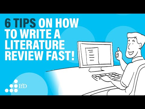 How To Write A Literature Review Fast I Write A Lit Review Fast!