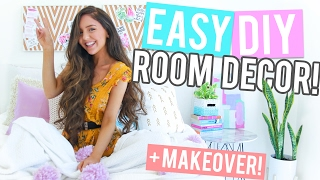 EASY DIY Room Decor / DIY MAKEOVER 2017! + Mini Room Tour! Cheap + Affordable!