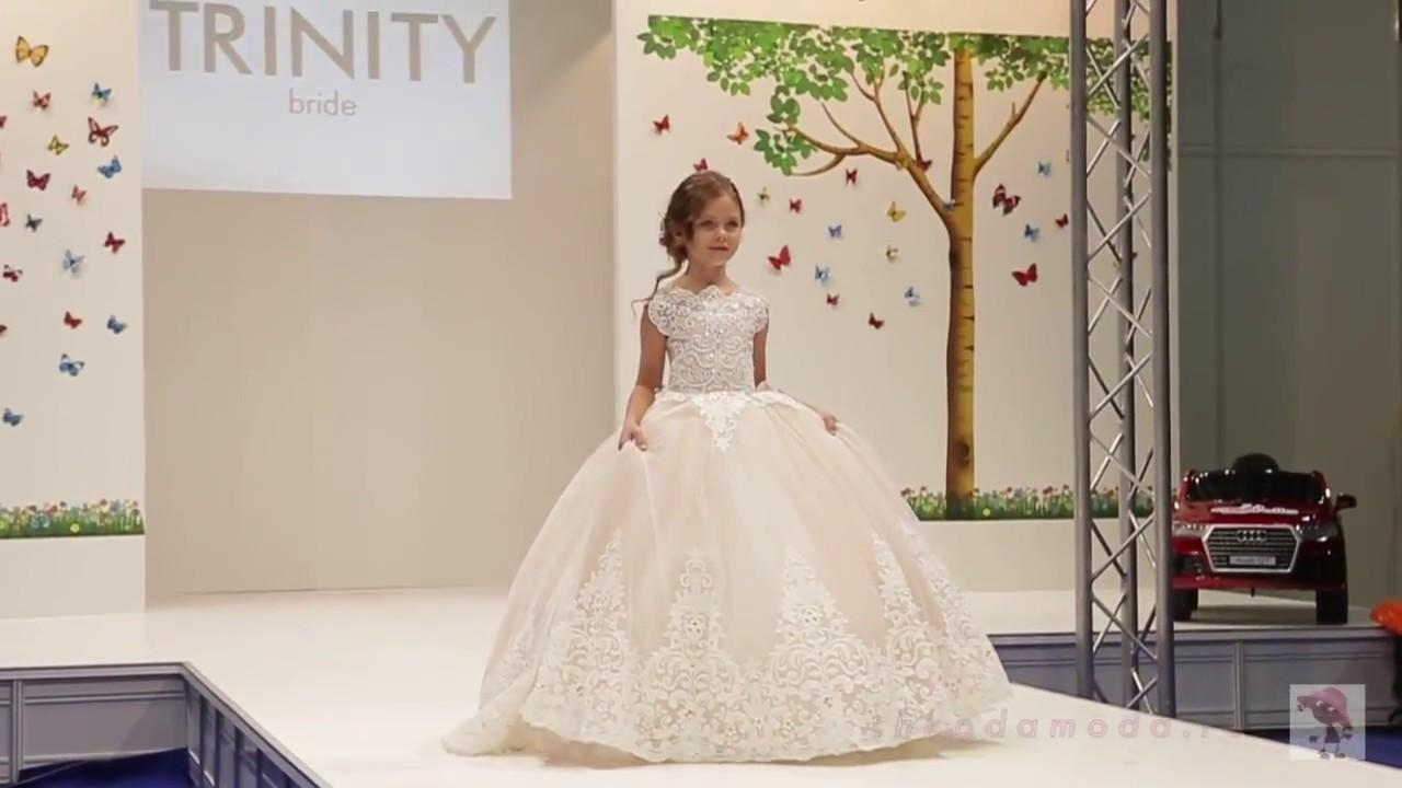 80697f216beb Детские нарядные платья Trinity Bride 2018 - YouTube