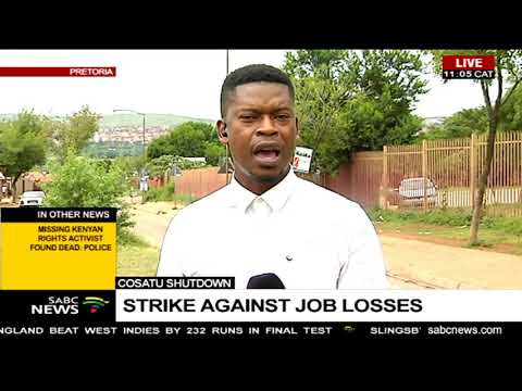Cosatu Shutdown - Strike against job losses