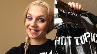 huge collective haul bday gifts sephora f21 hottopic blackheart