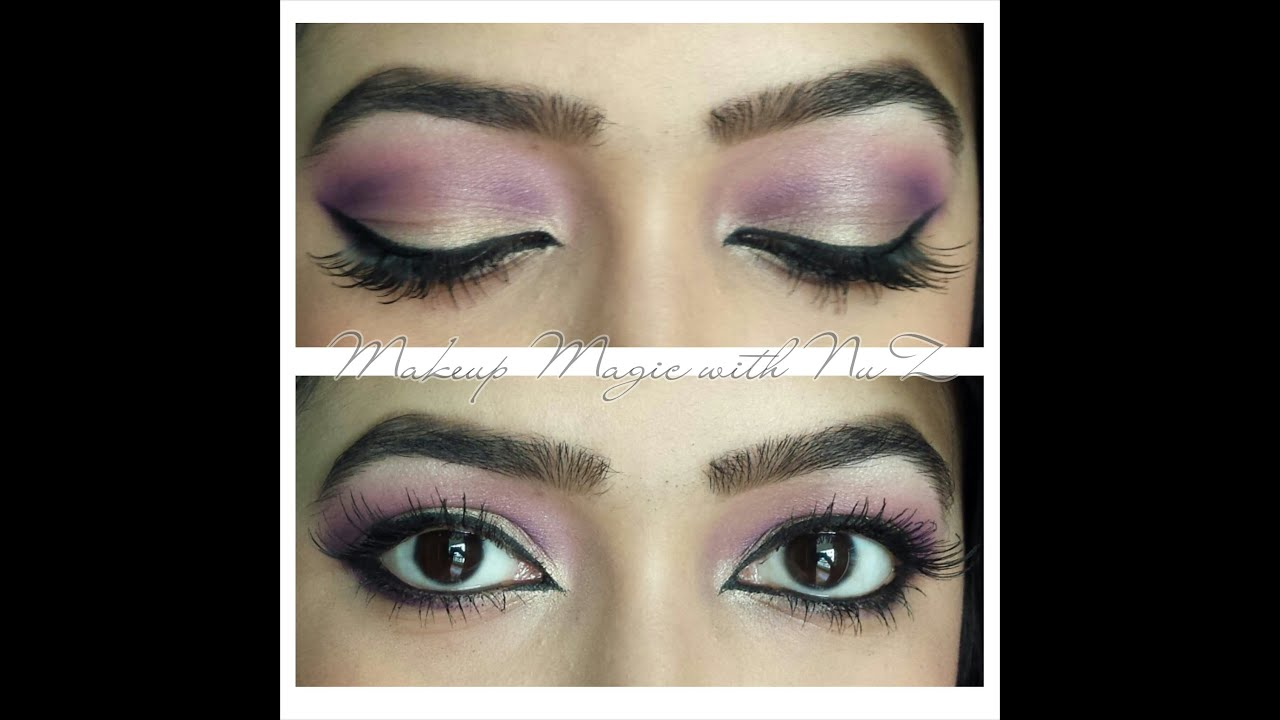 Pink/purple-gold eye makeup tutorial - YouTube