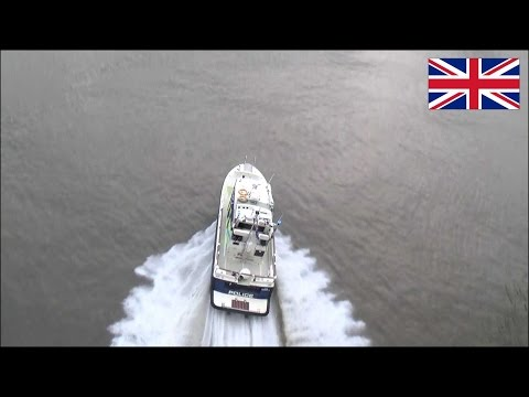 Police boat responding with siren - Metropolitan Police Marine Unit