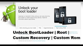 All Sony Xperia Boot Loader Unlock | Install Custom Rom | Repair Imei