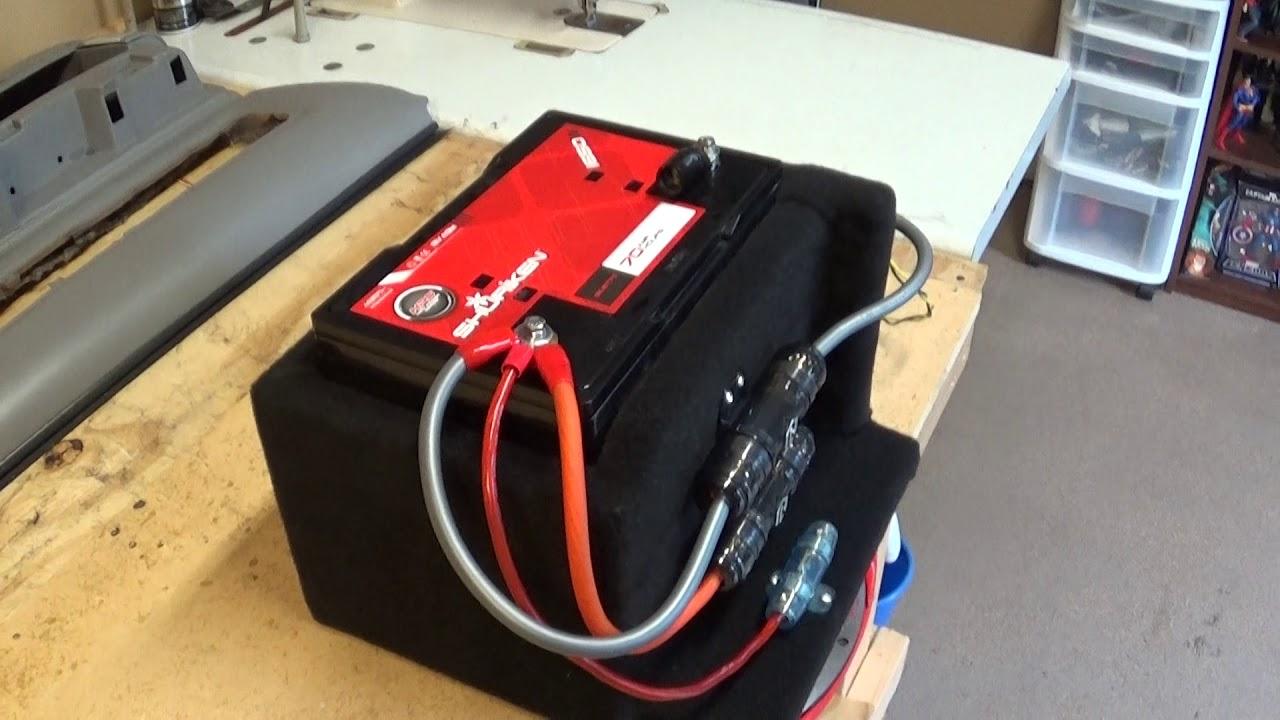 Installing A Second Battery For Car Audio Tips By Matt Ssinteriors Wiring Agm Alternator 2003