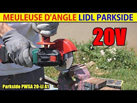 meuleuse d'angle parkside lidl pwsa 20 cordless angle grinder akku-winkelschleifer