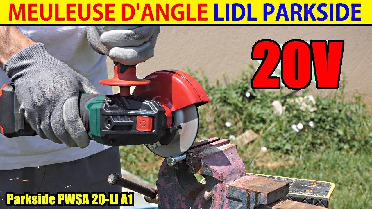 Meuleuse d 39 angle parkside lidl pwsa 20 cordless angle for Smerigliatrice parkside