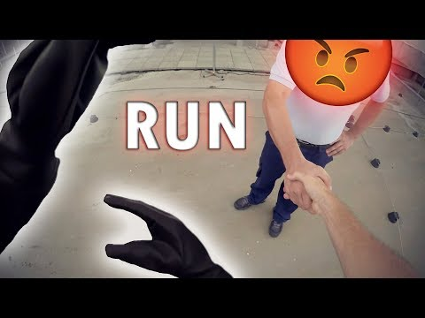 PARKOUR Vs SECURITY Real Chase Situation [Escape From Rooftop]