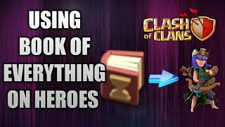 USING BOOK OF EVERYTHING TO UPGRADE HEROES ||CLASH OF CLANS ||😱😎