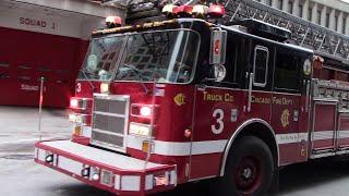 Chicago Fire Dept. Truck 3 & Ambulance 42 Responding