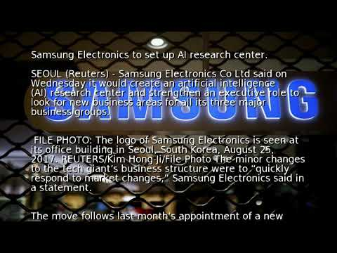 Samsung Electronics to set up AI research center