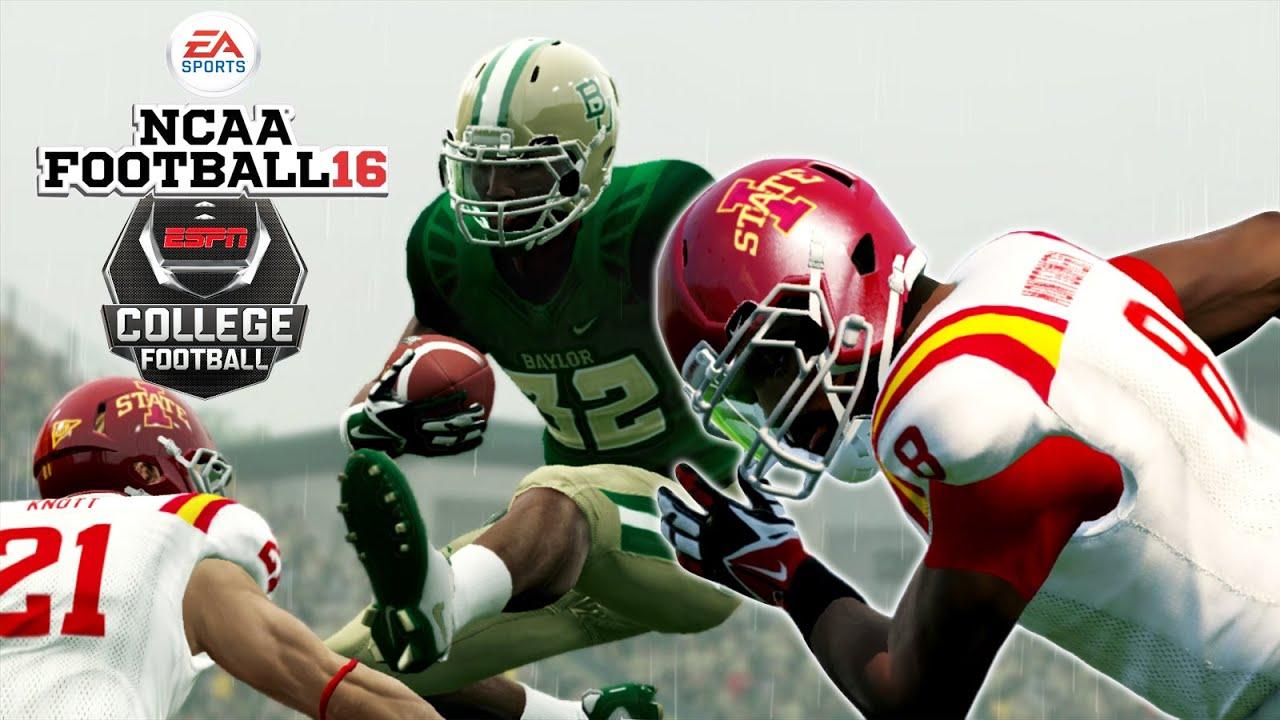 Ncaa Football 16 Iowa At 2 Baylor Rain Madness Gameplay