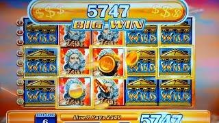 Zeus $33175 Slot Jackpot! $45 High Limit Max Bet Bonus Round!