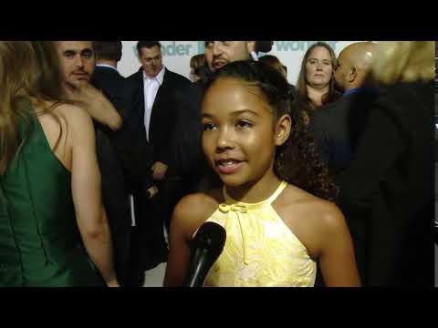 Wonder LA World Premiere  Itw Millie Davis  video