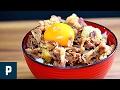 定番うまい!牛丼の作り方レシピ の動画、YouTube動画。