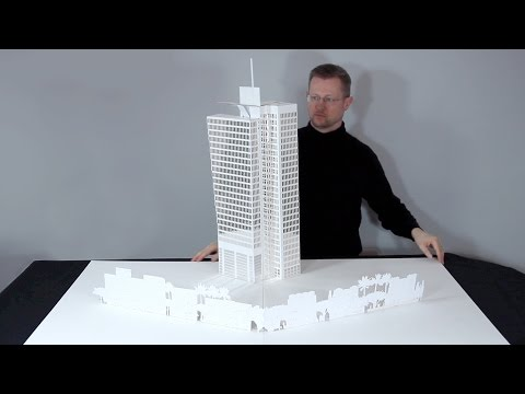 "Pop-Up Sculpture and Pop-Up Brochure for Real Estate ""Rothschild 22"""