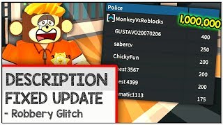 THEY FIXED THE INFINITE MONEY GLITCH IN ROBLOX JAILBREAK?!