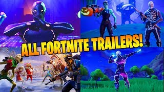 ALL FORTNITE BATTLE ROYALE TRAILERS (Season 1-6)