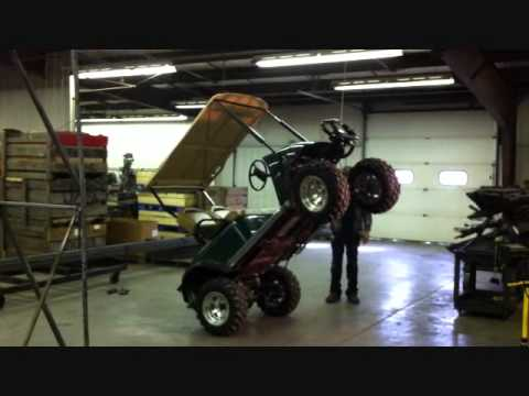 Lift Kits For Less >> Jake's EZGO TXT Winch Mount Strength Test - YouTube