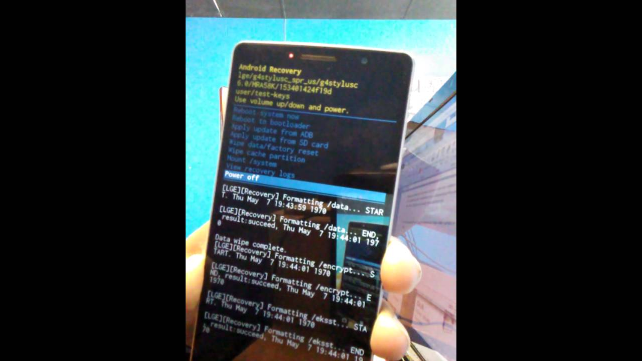 Hard Reset LG Stylo de boost mobile