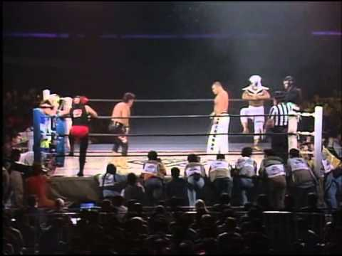 Sasuke, Togo & Shiryu vs Delfin, Shinzaki & Naniwa - (AJW 1994/11/20)