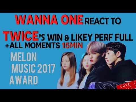 (P1) TWICE & WANNA ONE moments at MMA 171202 ( reaction to TWICE win & Likey )