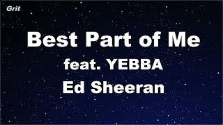 Best Part of Me feat. YEBBA - Ed Sheeran Karaoke 【No Guide Melody】 Instrumental