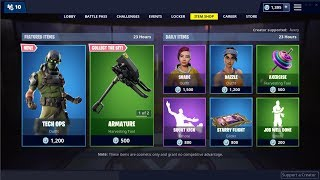 *NEW*Tech Ops Skin! Fortnite Item Shop January 25, 2019