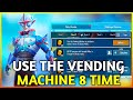 Use the Vending Machine to purchase items 8 times in Classic Mode PUBG Mobile