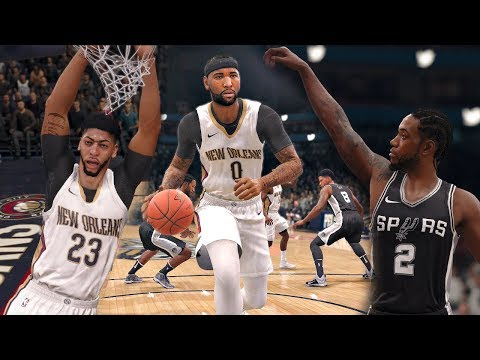 NBA Live 18 Gameplay | San Antonio Spurs vs New Orleans Pelicans (Davis & Cousins vs Kawhi Leonard)