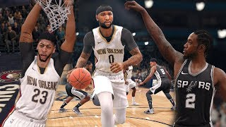NBA Live 18 Gameplay | San Antonio Spurs vs New Orleans Pelicans (Davis & Cousins vs Kawhi Leonard)