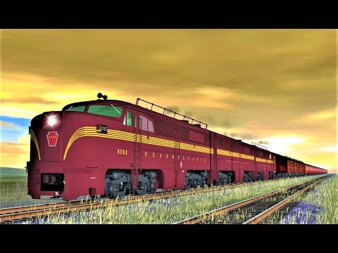 Diesel Power vs Steam Power : PRR PA vs PRR T1  - Trainz |