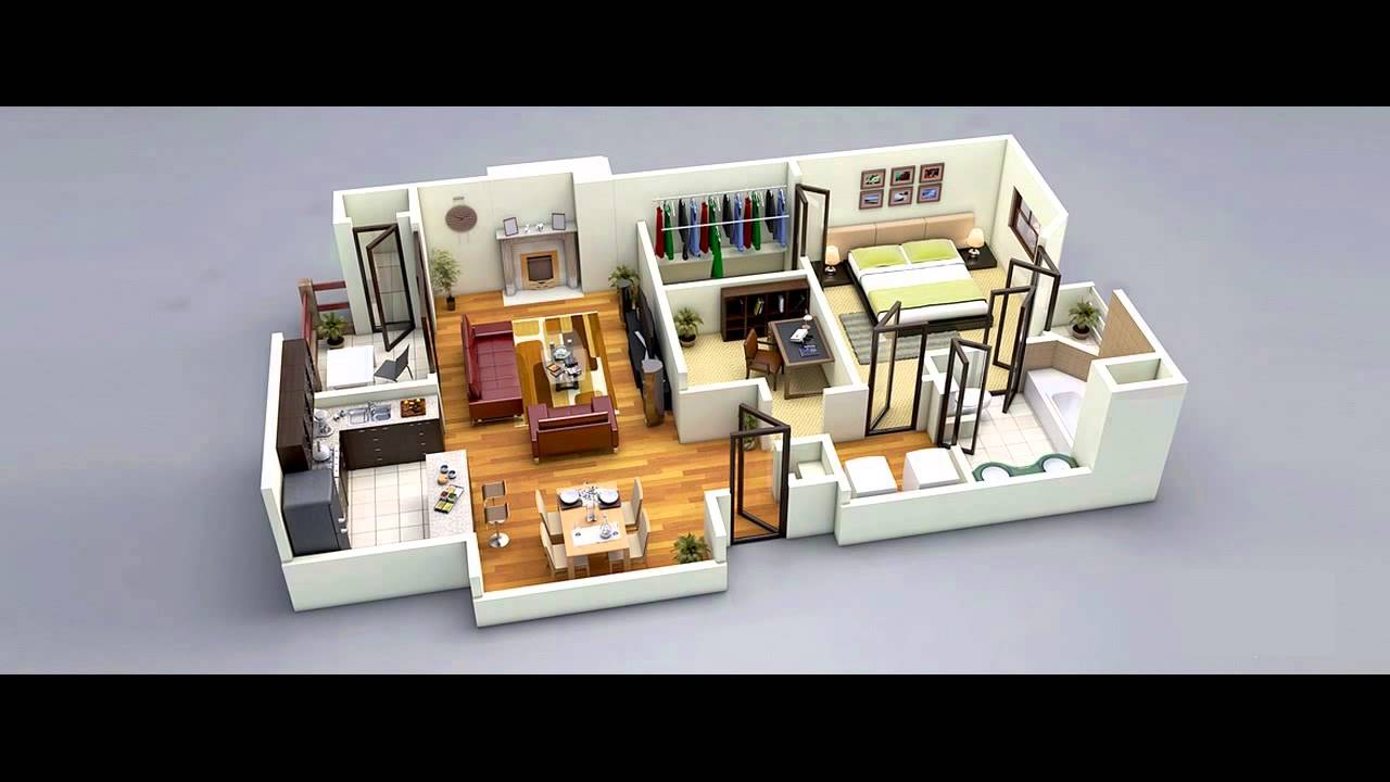 Awesome 25 One Bedroom House Apartment Plans. Design Part 20