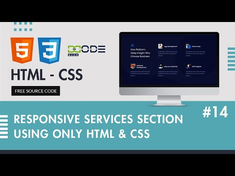 Responsive Our Services Section Using HTML & CSS | Our Services HTML Code