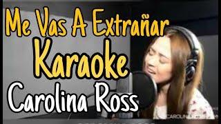 Me vas a extrañar - Banda MS (Carolina Ross Karaoke ) acustico piano