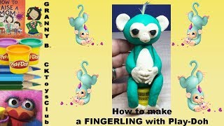 How to make a FINGERLING with Play-Doh. by Granny B. CKToysClub