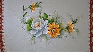 Aprenda a Pintar – Rosa e Flor do Campo com Tinta Florescente