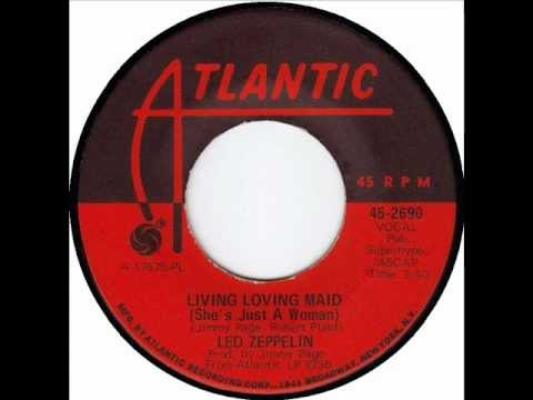 Led Zeppelin - Living Loving Maid, Mono 1969 Atlantic 45 record.
