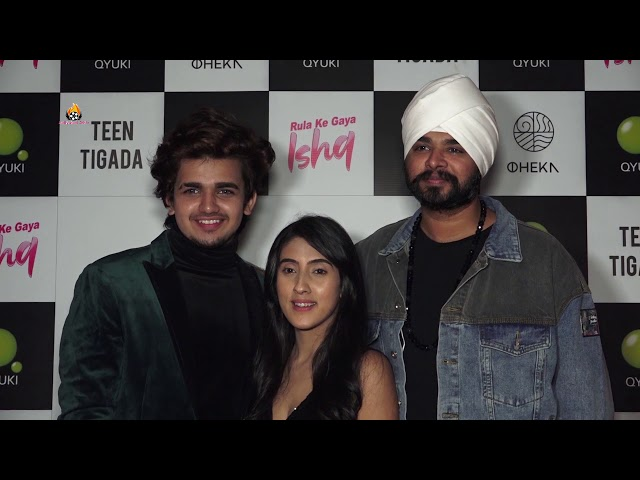Launch Of Teen Tigada's First Song Together Rula Ke Gaya Ishq & Vishal's Birthday Celebration