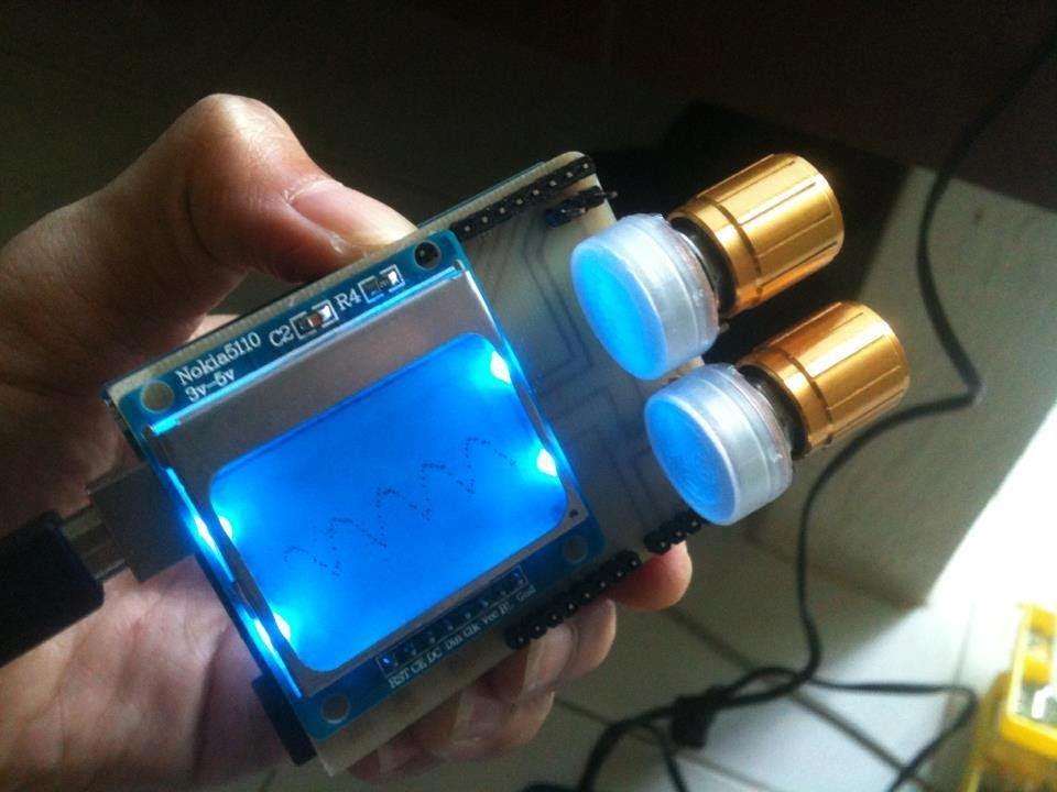 สร้าง mini oscilloscope shield for arduino uno r d i y