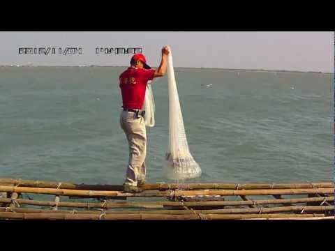 台南七股潟湖生態之旅-龍海號-撒網-01