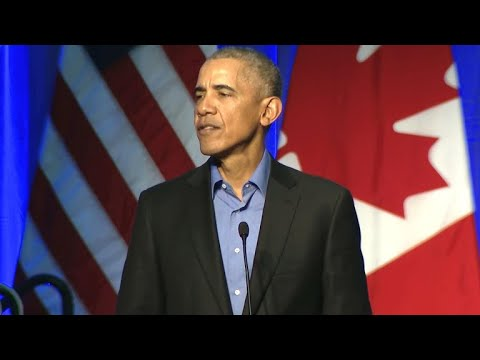 Former President Obama speaks at climate summit