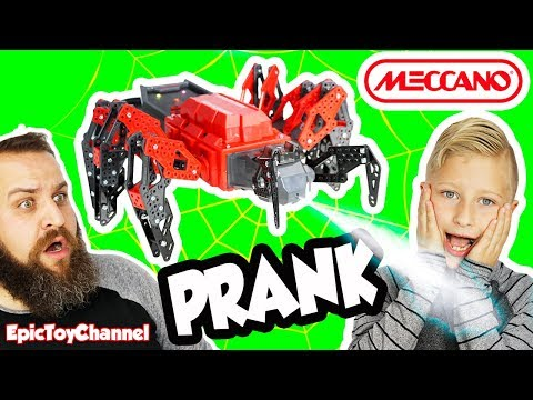 EXTREME ROBOT SPIDER for PRANKS MeccaSpider the Real Life Surprise Venom Shooting Prank Robot Spider