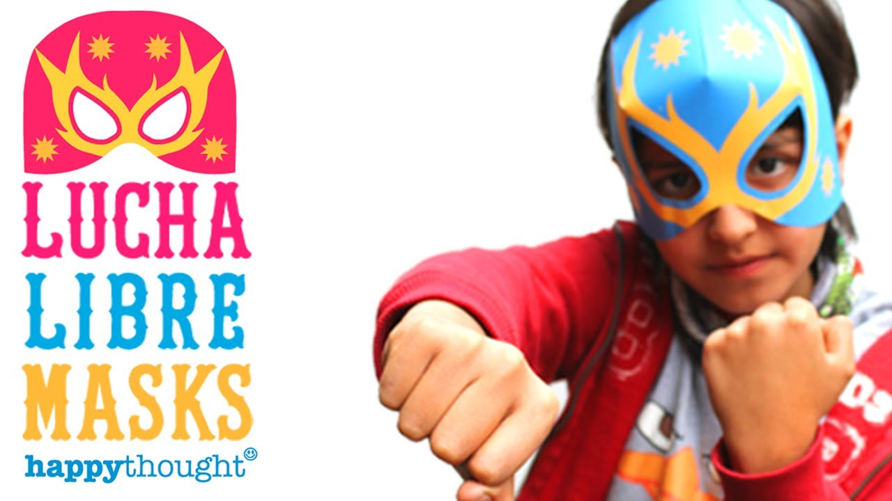 Lucha Libre Youtube How To Make A Lucha Libre Mask Tutorial Printable Paper Template