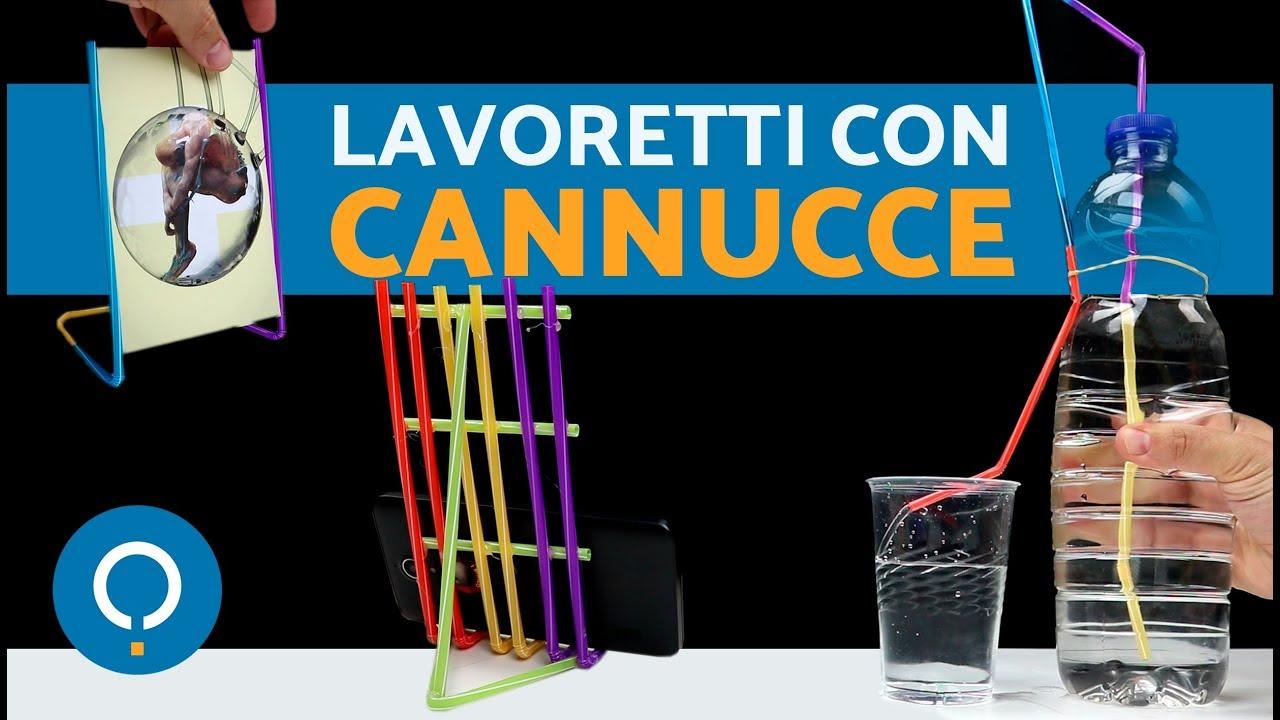 Conosciuto Lavoretti con le cannucce di plastica - Lavoretti per bambini  EV21