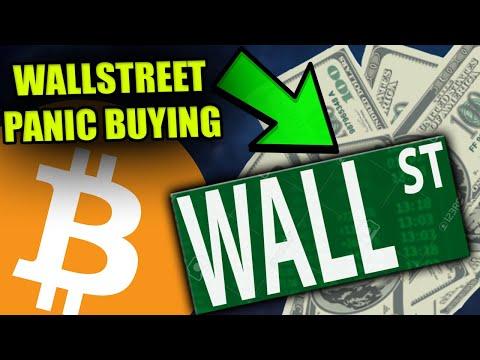 REPORT: Wall Street PANIC BUYING Bitcoin Now!