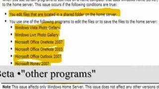 Windows Home Server file corruption [fixed]