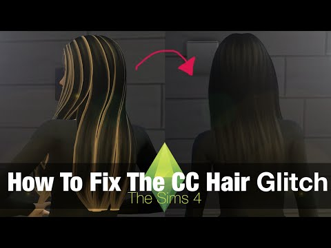 The Sims 4 Tutorial: How to Fix Custom Content Hair Glitch - YouTube